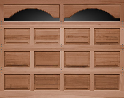 Raised Panel Wood Garage Door